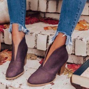 Shoes - New! Fall Wine Booties (fits 7)